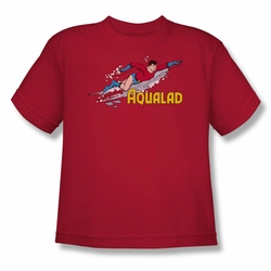 DC Comics youth teen t-shirt Aqualad red