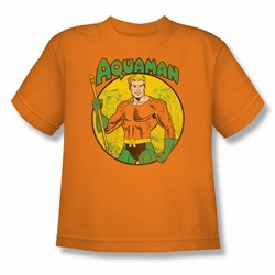 DC Comics youth teen t-shirt Aquaman orange