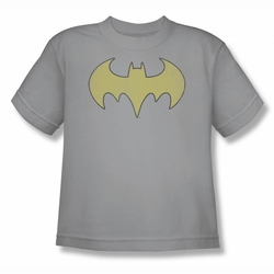 DC Comics youth teen t-shirt Batgirl Logo Distressed silver