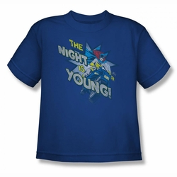 DC Comics youth teen t-shirt Batgirl The Night Is Young royal
