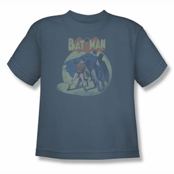 DC Comics youth teen t-shirt Batman and Robin In The Spotlight slate