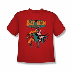 DC Comics youth teen t-shirt Batman and Robin Starling Shock red