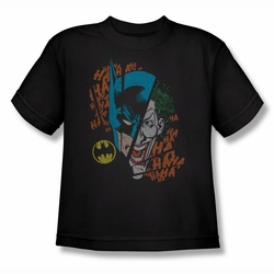 DC Comics youth teen t-shirt Batman Broken Visage black