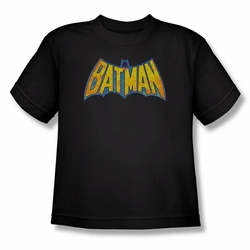 DC Comics youth teen t-shirt Batman Neon Distress Logo black