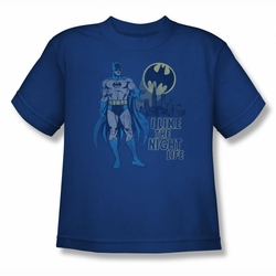 DC Comics youth teen t-shirt Batman Night Life royal