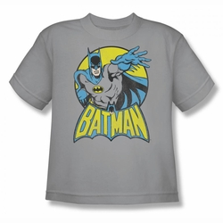 DC Comics youth teen t-shirt Batman silver