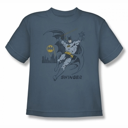 DC Comics youth teen t-shirt Batman Swinger slate