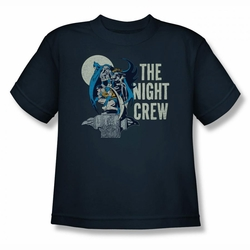 DC Comics youth teen t-shirt Batman The Night Crew navy