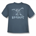 DC Comics youth teen t-shirt Brainiac slate