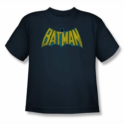 DC Comics youth teen t-shirt Classic Batman Logo navy
