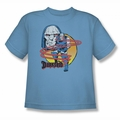 DC Comics youth teen t-shirt Darkseid Not Amused carolina blue