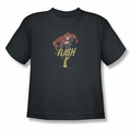 DC Comics youth teen t-shirt Desaturated Flash charcoal