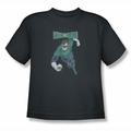 DC Comics youth teen t-shirt Desaturated Green Lantern charcoal