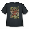 DC Comics youth teen t-shirt Flash Just Passing Through charcoal