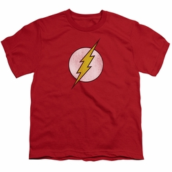 DC Comics youth teen t-shirt Flash Logo Distressed red