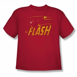 DC Comics youth teen t-shirt Flash Speed Distressed red