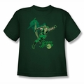 Green Arrow youth teen t-shirt In Action hunter green