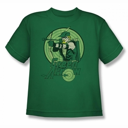 DC Comics youth teen t-shirt Green Arrow kelly green