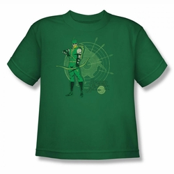 DC Comics youth teen t-shirt Green Arrow Target kelly green