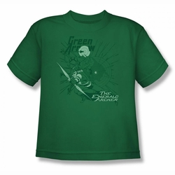 DC Comics youth teen t-shirt Green Arrow The Emerald Archer kelly green