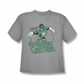 DC Comics youth teen t-shirt Green Lantern Cosmic Hero silver