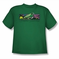 Green Lantern youth teen t-shirt Cosmos kelly green