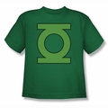 DC Comics youth teen t-shirt Green Lantern  Emblem kelly green