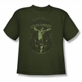 DC Comics youth teen t-shirt Green Lantern Fearless military green