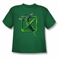 DC Comics youth teen t-shirt Green Lantern Green Cross kelly green