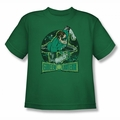 DC Comics youth teen t-shirt Green Lantern In The Spotlight kelly green