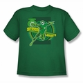 DC Comics youth teen t-shirt Green Lantern kelly green