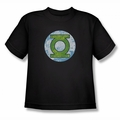 DC Comics youth teen t-shirt Green Lantern Neon Distress Logo black