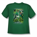 DC Comics youth teen t-shirt Green Lantern Space Sector 2814 kelly green