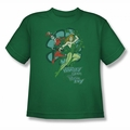 DC Comics youth teen t-shirt Harley Quinn And Posion Ivy kelly green