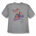 DC Comics youth teen t-shirt Harley Quinn The Bomb silver