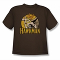 DC Comics youth teen t-shirt Hawkman coffee