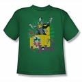 DC Comics youth teen t-shirt Joker These Fish Are Loaded kelly green