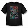 DC Comics youth teen t-shirt Justice League Boxes black