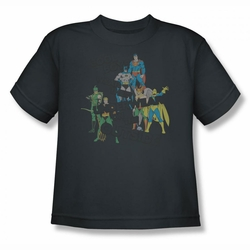 DC Comics youth teen t-shirt Justice League Cool Boys Wear Their Underwear on the Outside charcoal