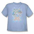 DC Comics youth teen t-shirt Justice League Girls Do It Better light blue