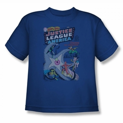 DC Comics youth teen t-shirt Justice League #28 royal