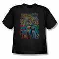 DC Comics youth teen t-shirt Justice League Original Universe black