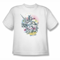 DC Comics youth teen t-shirt Justice League Power Trio white