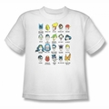 DC Comics youth teen t-shirt Justice League Superhero Issues white