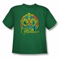 DC Comics youth teen t-shirt Martian Manhunter kelly green