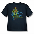 DC Comics youth teen t-shirt Martian Manhunter navy
