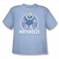 DC Comics youth teen t-shirt Mr Freeze light blue