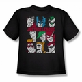 DC Comics youth teen t-shirt Nine Blocks Of Justice black