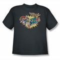 DC Comics youth teen t-shirt Please Get Me charcoal