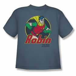 DC Comics youth teen t-shirt Robin The Boy Wonder slate